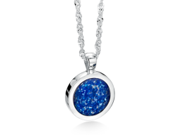 round-pendant-silver-blue